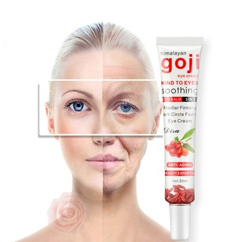 Goji Collagen Moisturizing Essence Anti Puffiness Dark Circle Anti Aging Hyaluronic Acid Repair Eye Cream Wrinkle Cream Collagen недорого