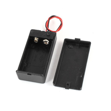 30pcs/lot MasterFire Black Plastic 9V Battery Holder Storage Box Case with Wire Lead ON/OFF Switch Cover High Quality