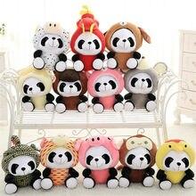 20/40cm kawaii chinês zodíaco panda brinquedo de pelúcia recheado animais macios rato gado cão coelho boneca bonito presente de natal para crianças