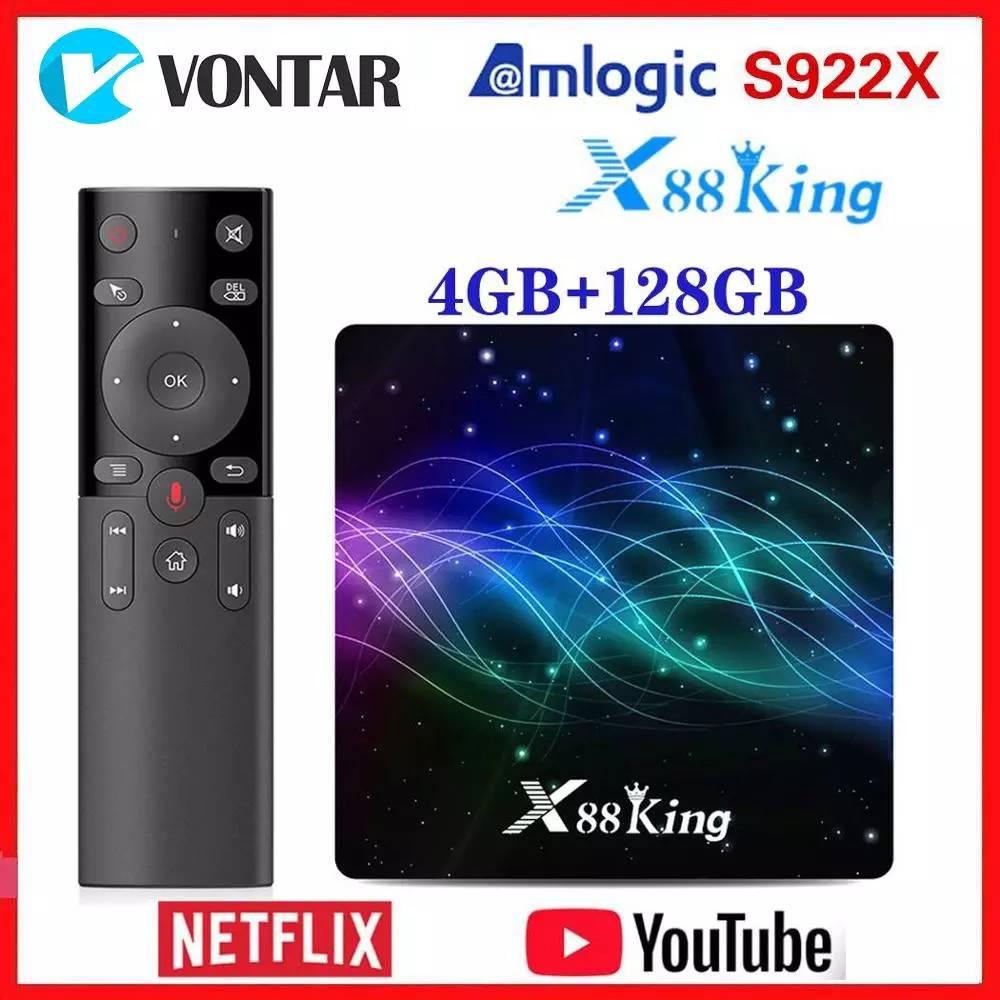 Amlogic S922X TV Box Android 9.0 X88 King 4GB RAM 128G ROM Media Player Dual Wifi BT5.0 1000M 4K 60fps USB3.0 Youtube(China)