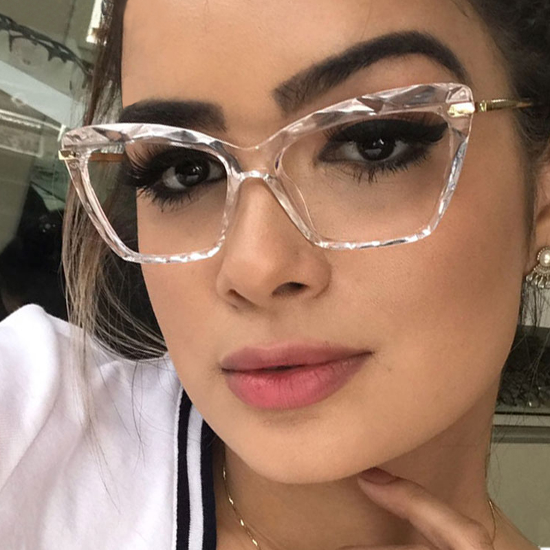 MADELINY 2020 New Square Glasses Frames Women Clear Lens Optical Computer Eyeglasses Female Cat Eye Brand Designer Eyewear MA517