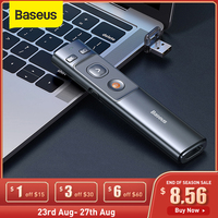 Baseus 2,4 GHz presentador inalámbrico remoto controlador de Red USB lápiz láser Control pluma para Mac ganar 10 8 7 XP proyector PowerPoint PPT