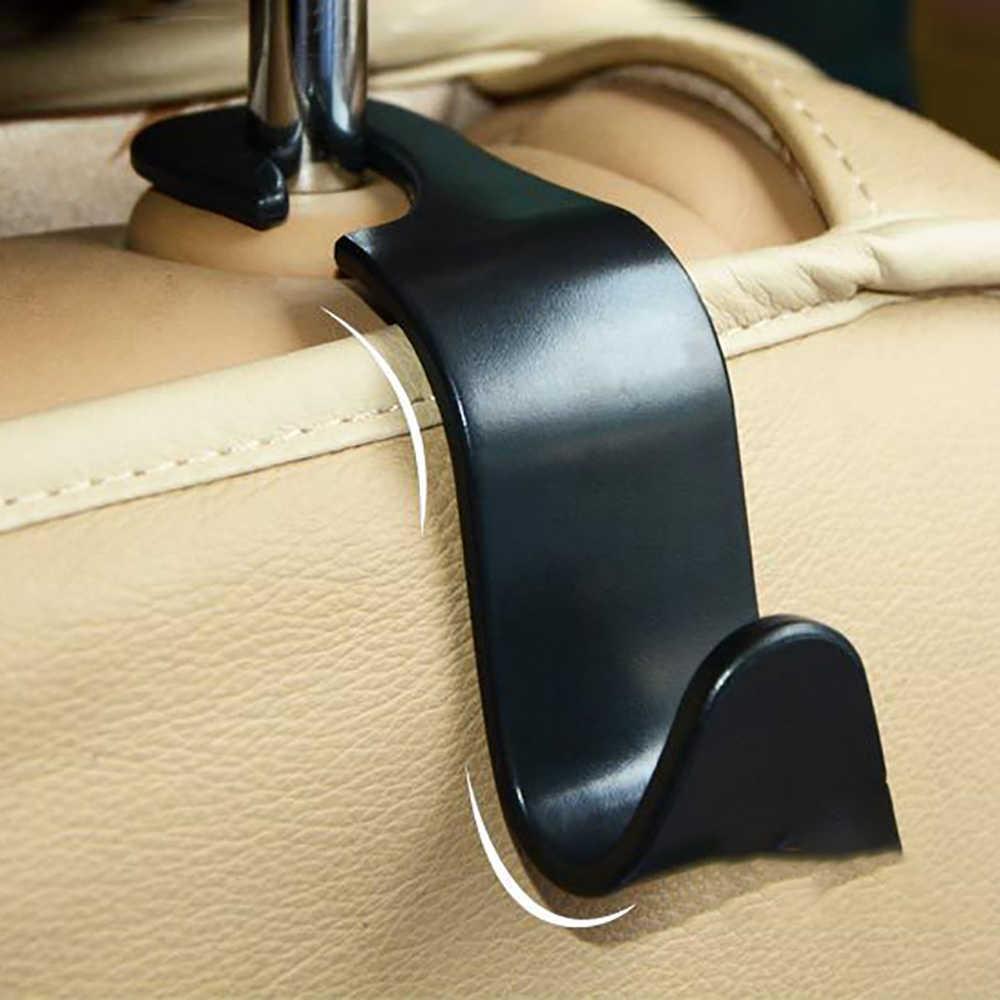 سيارة المحمولة مقعد شماعات محفظة حقيبة حامل هوك مسند الرأس السيارات الخلفية رفوف هوك مشبك التخزين