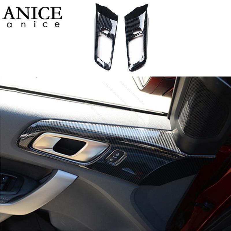 For Ford Ranger Everest Endeavour Accessories 2015 2016 2017 2018 2019 Carbon Fiber Color Door Handle Bowl Frame Decorator Cover