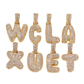 Custom Name Plates Small Bubble Letters Necklaces & Pendant Charm Men Zircon Hip Hop Jewelry With 3 Mm Rope Chain цена 2017