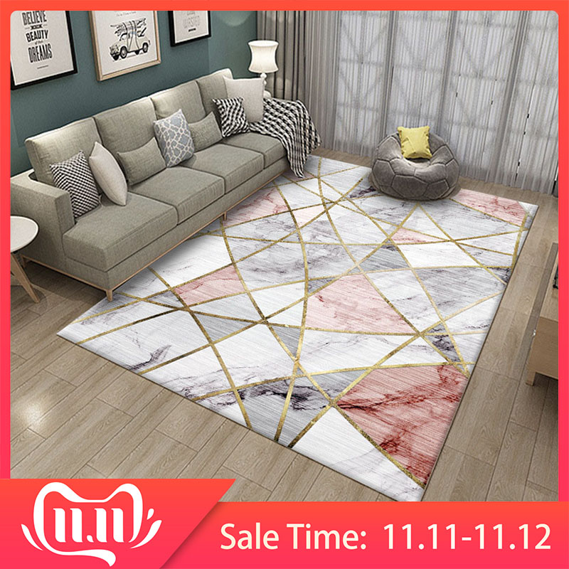 RFWCAK Nordic Marble Carpet For Living Room Area Rugs Anti-slip Badroom Large Rug Coffee Table Mat Bedroom Yoga Pad Home Decor