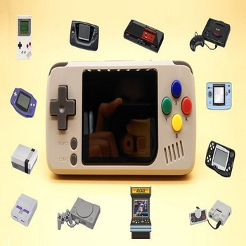 Retro Handheld Game Console Portable Game Player 12 Emulators with TF Card Slot 32G TF Card AV Out