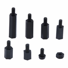 180pcs/Set Black M3 Nylon Hex Spacers Male-Female Screw Nut Stand-off Kit With Plastic Box For PC Board Mayitr wsfs hot 300pcs m3 nylon black m f hex spacers screw nut assortment kit stand off set