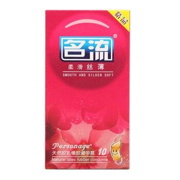 50pcs Mingliu Silken Soft Condoms Natural Latex Kondom Smooth Lubricated Penis Sleeve for Men Contraception Safe Sex Product mingliu любвь огони 10шт
