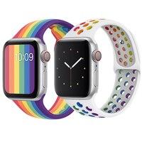 Cinturino in Silicone per cinturino apple watch 44mm 40mm cinturino iwatch 42mm 38mm smartwatch cinturino da polso correa apple watch 6 SE 5 4 3