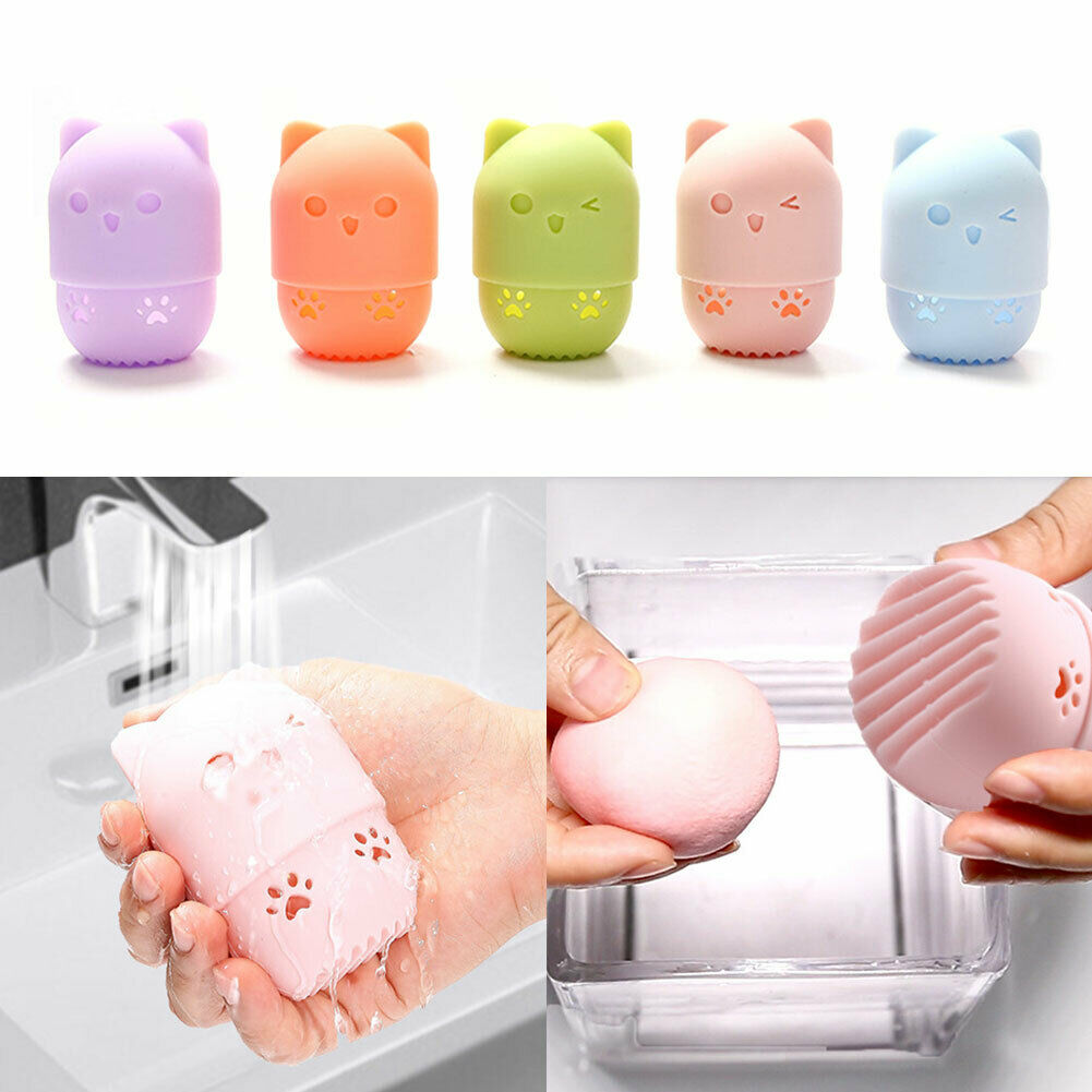 Puff-Holder Cosmetic-Sponge-Box-Holder Egg-Drying-Case Makeup Beauty-Powder Soft-Silicone title=