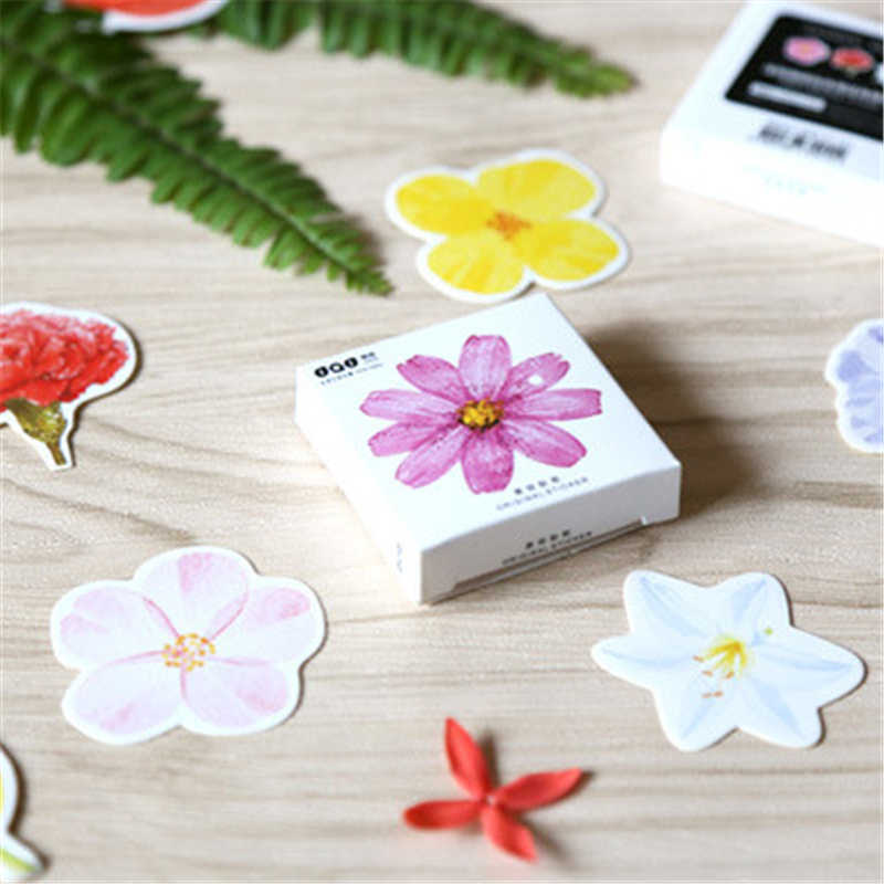 38pcs/set Japanese Paper DIY Planner Sticker Office Adhesive Tape Decorative Stationery Office Decoration Cute Flower Post It