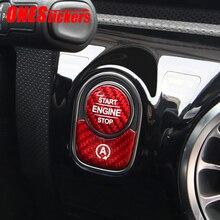 Auto Motor Start Stop Taste Trim Abdeckung Für Mercedes Benz AMG W177 W247 G463 C118 W118 W167 X167 X247 H247 EINE B G CLA GLE Klasse
