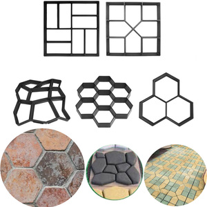 Image 1 - Manually Paving Cement Brick Concrete Molds DIY Plastic Path Maker Mold Garden Stone Road Mold Garden Decoration