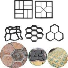 Manualmente pavimentação de cimento moldes de concreto de tijolo diy molde de molde de molde de estrada de pedra de jardim de plástico decoração do jardim
