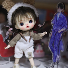 OB11doll Products include doll head with makeup+OB11 body+eyes+wig+Hairband + top + suspenders + socks 6.30.3