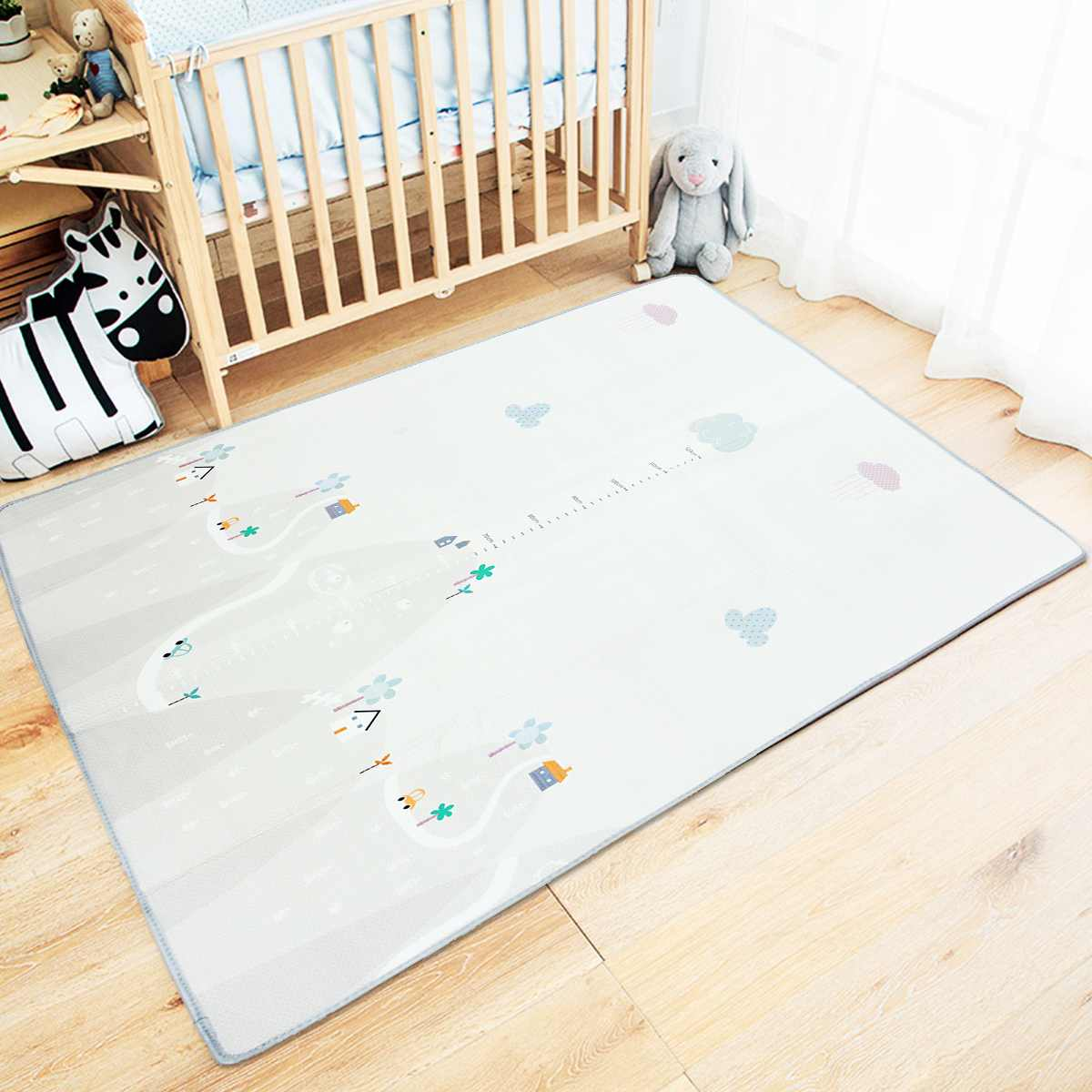 200*180cm Non-Slip Baby Gym Playmat Carpet Game Mat Puzzle Pad Children Infant Crawling Blanket Waterproof Play Mat Gifts
