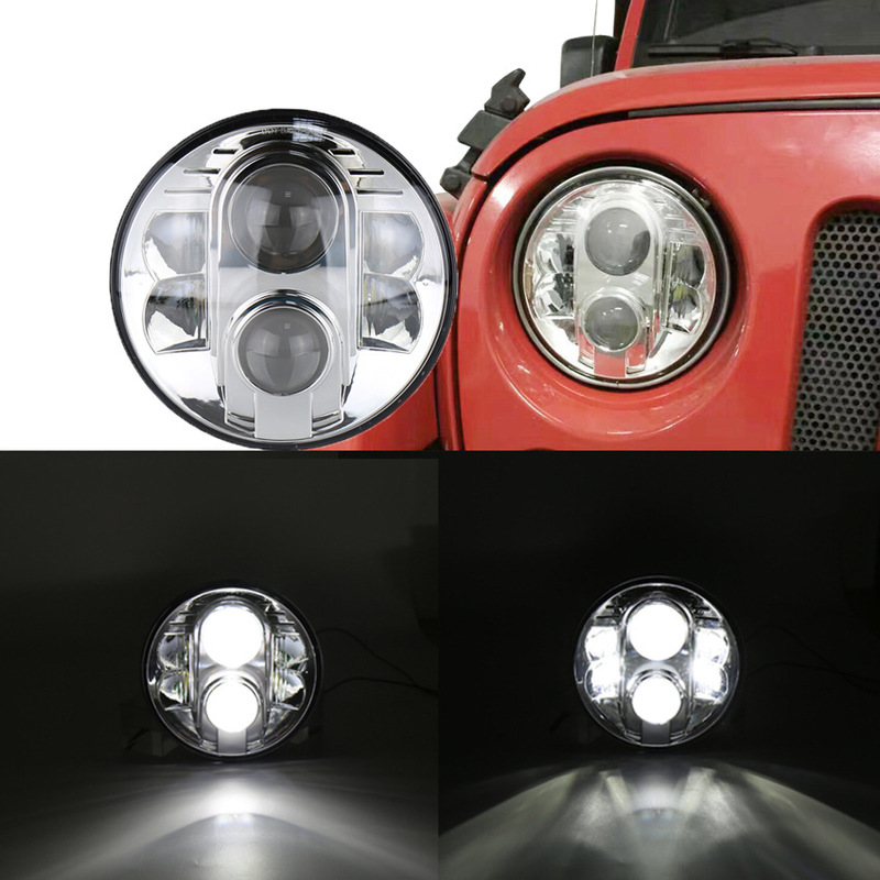 The Vectra Cars Motorcycles Highlight Led Lights 80 W Jeep Wrangler 7 Inch Headlight