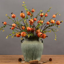 74cm 4 Heads Artificial Pomegranate Fruit Branch Fake Plants Tree