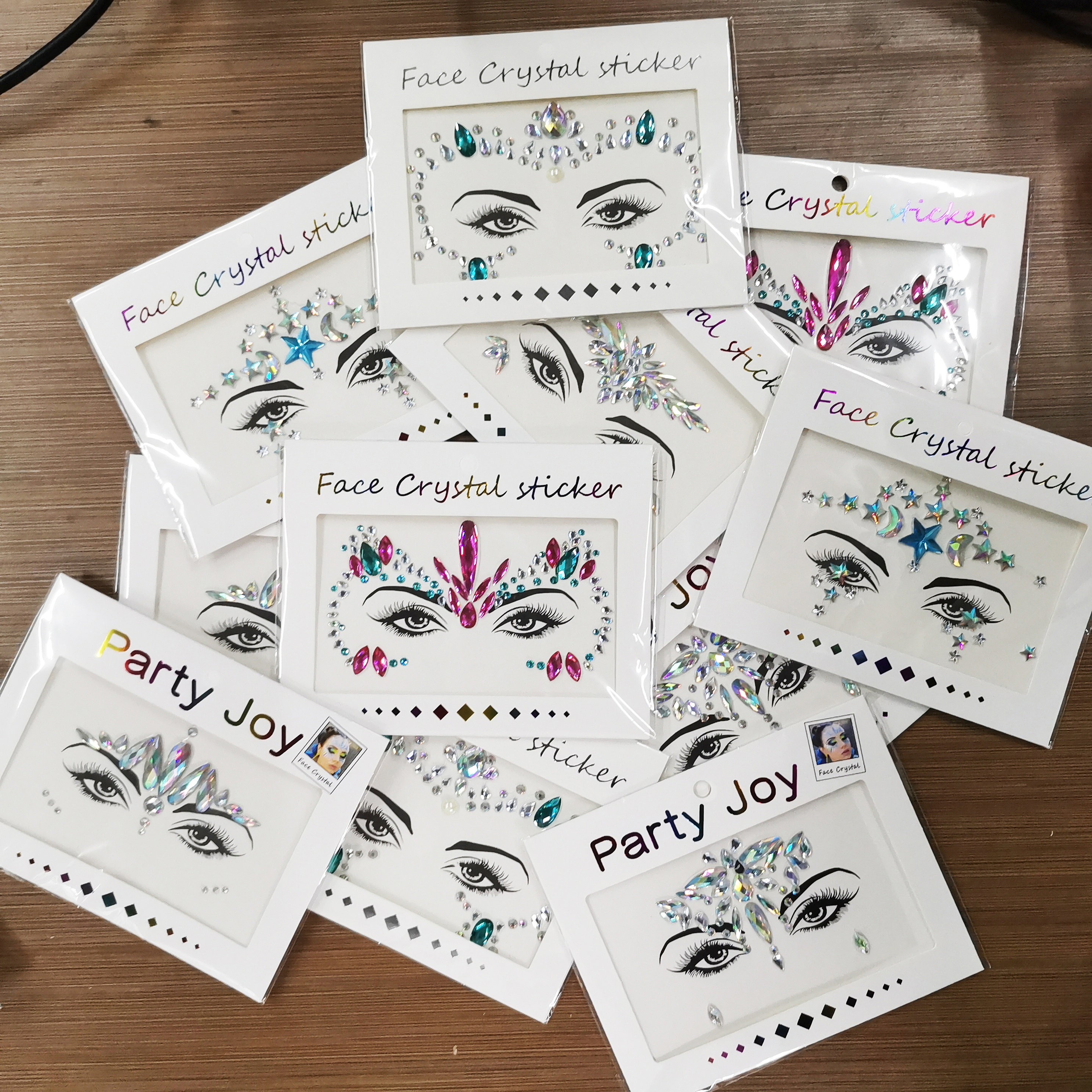 Face Tattoo 3D Sexy Body Eye Sticker Diamond Makeup Party Face Sticker Woman Tatoo Crystal Eyes Sticker Face Jewels  2020 Design