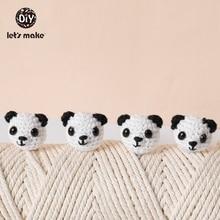 Let's Make Crochet Beads Baby Teether 5pcs DIY Pacifier Chain Mitten Panda Rabbi