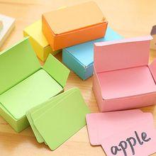 100 Memory Cards Blank DIY Graffiti Black Word Cards Net Small Memo Pad Blocks Memorandum Note Blank Word Cards