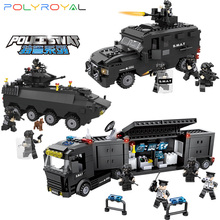 цена на Building Blocks Small particle block swat Armored vehicle Explosion-proof Command vehicle Educational toys 6508-10
