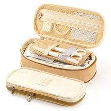 MoneRffi большая емкость, школьный держатель для ручек, сумка на молнии, многослойная Сумка для хранения, пенал, Детские канцелярские принадлежности