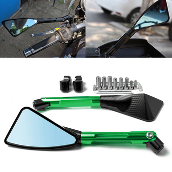 For Kawasaki Z650 Z750 Z800 Z900 Z1000 ER6F ER6N Z750 Z800 Z900 Z1000 Universal Motorcycle Rearview Mirror moto CNC Side Mirrors universal aluminum cnc motorcycle side mirror rearview accessories fits for kawasaki ninja zx6r zx9r zx12r z800 z1000 z750 z250