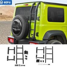 MOPAI Protective Frames for Suzuki Jimny JB74 Car Rear Door Tailgate Ladder for Suzuki Jimny 2019 2020 Exterior Accessories
