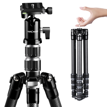 цена на K&F Concept B210 Carbon Fiber Tripod Professional Camera Tripod Super Lightweight with 360° Ball Head For DSLR SLR Camera