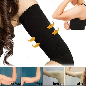 2Pcs Women Weight Loss Arm Shaper Fat Buster Off Cellulite Slimming Wrap Belt Band Face Lift Tool