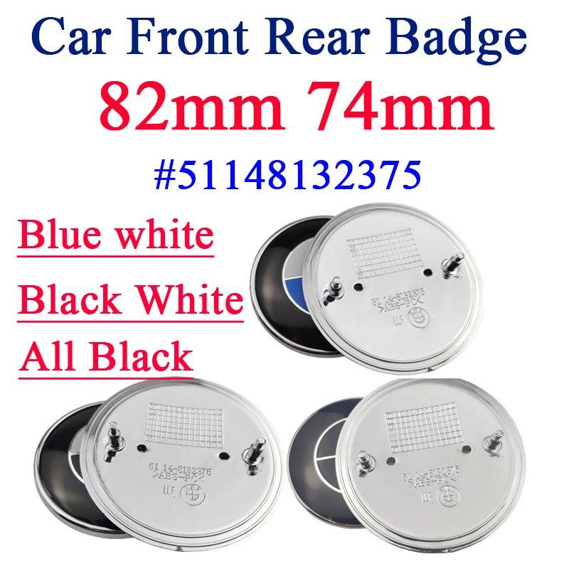 Хромированная основа для капота автомобиля, 82 мм, 74 мм, 45 мм, эмблема переднего и заднего багажника, значок с логотипом капота для E46, E39, E38, E90, ...