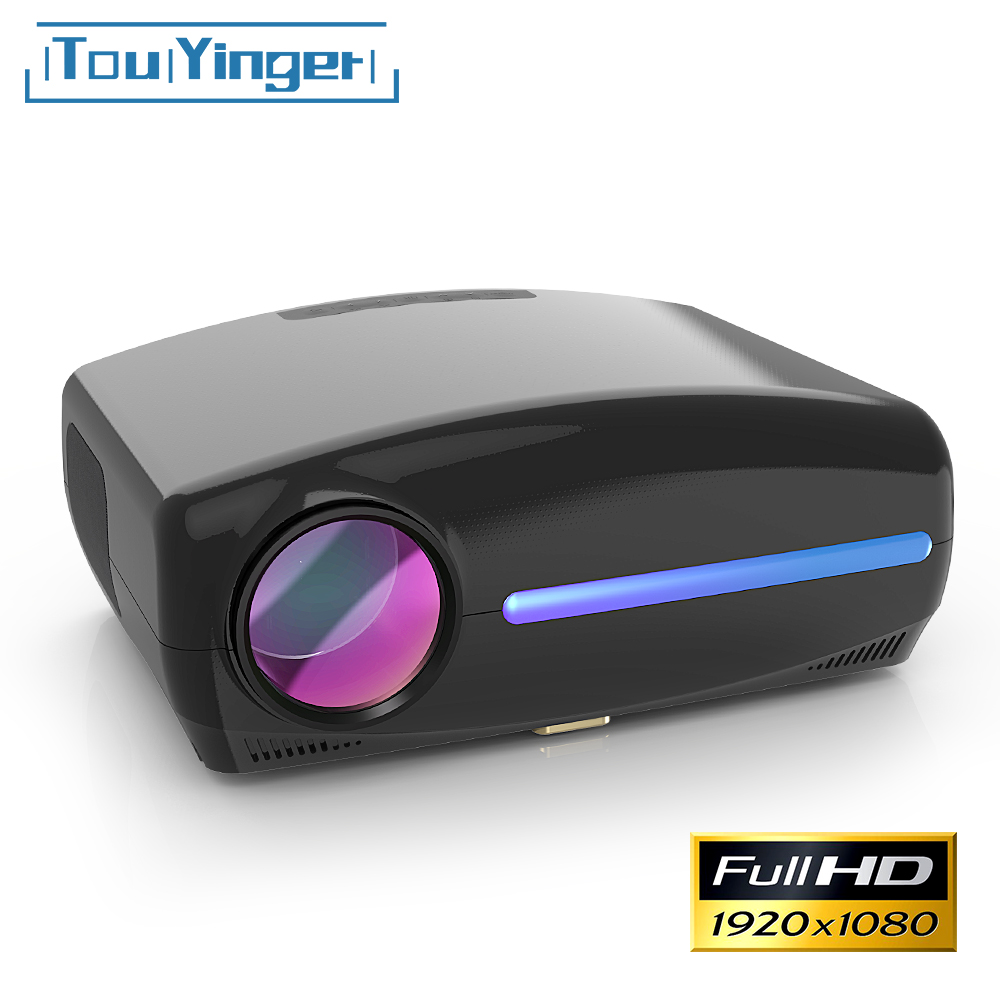 Touyinger led nativo 1080 p projetor completo hd beamer ac3 vídeo 5500 lumens s1080 cinema em casa hdmi android 9.0 wifi opcional