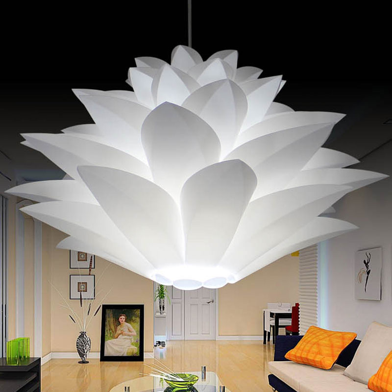 DIY Lotus Candlestick Display Beautiful Romantic Decoration Hanging Lighting Cover Easy To Clean For Home Decoration(no Bulb)