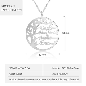 Image 4 - Gepersonaliseerde Stamboom Ketting Voor Mama Custom Naam Charme Ketting Voor Vrouwen 925 Sterling Zilveren Fijne Sieraden (Lam Hub fong)