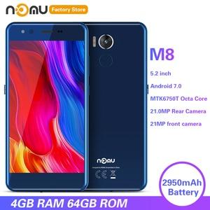 Image 1 - IP68 NOMU M8 4G الهاتف الذكي 5.2 بوصة أندرويد 7.0 MTK6750T ثماني النواة 1.5GHz 4GB RAM 64GB ROM 21.0MP كاميرا خلفية 2950mAh الهواتف المحمولة