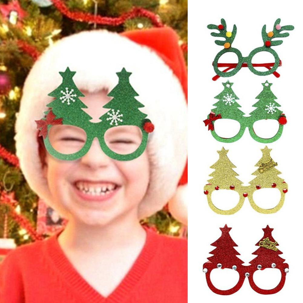 1 Pair Christmas Tree Glasses Xmas Party Cosplay Supplies Adult Kids Favor Gift