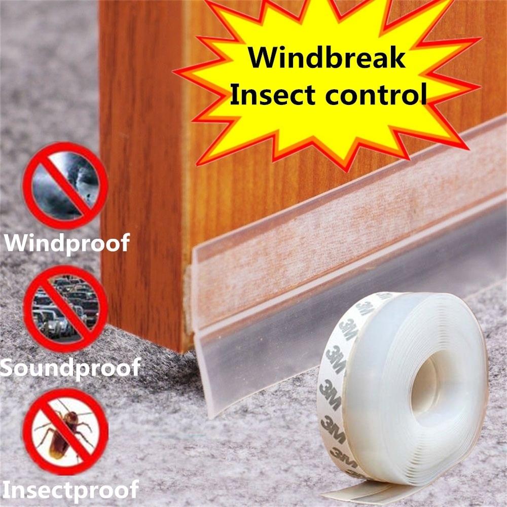Multi-function Transparent Windproof Silicone Bar Door Sealing Strip Waterproof Window Sliding Door Seals Silicon Rubber Seal