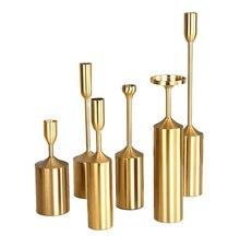 Металлический подсвечник набор из железного золота 6 предметов
