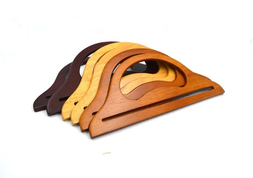 30x12 Cm Solid Wood Material Three Colors 10 Pcs Per Lot Wholesale Diy Bag Parts Obag Wood Purse Handle Fashion Wood Bag Handle