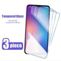 3 uds vidrio templado para Xiaomi Mi 9 10 9 Lite 10T 10 Lite 10 Pro 5G Note3 Pantalla de vidrio para Xiaomi Poco X3 M3 X3 NFC F2 Pro