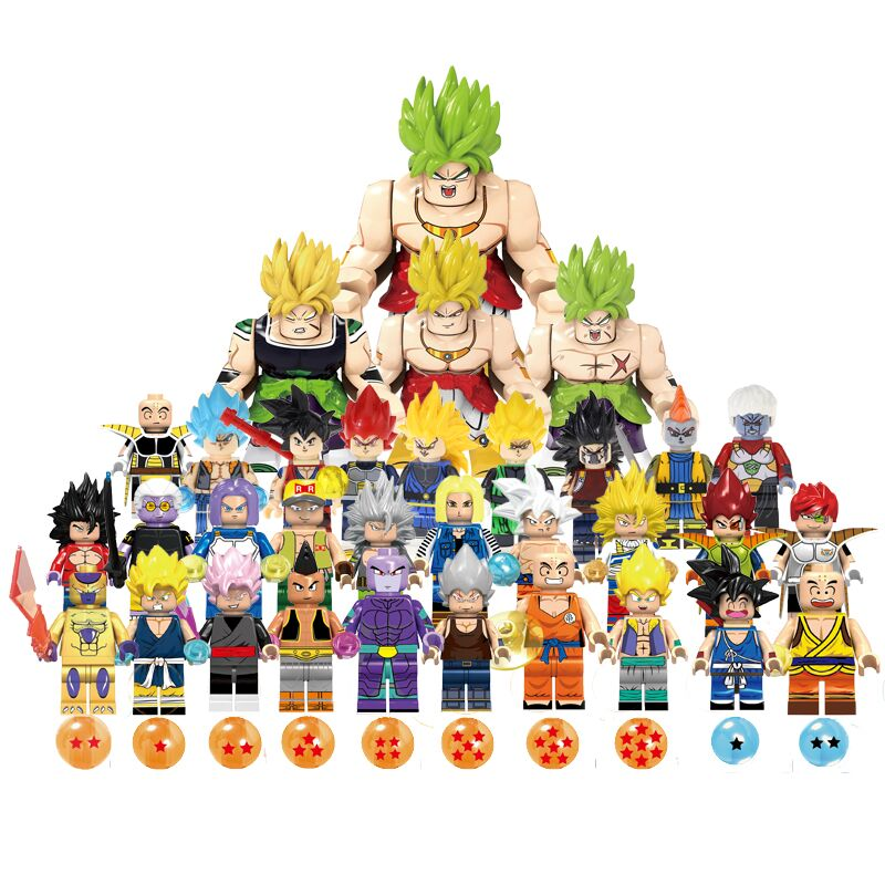 Legoing Dragon Balls Building Blocks Ball Z Son Goku Vegeta Vegetto Gogeta Kanba Tapion Mira Figures Bricks Toys For Children