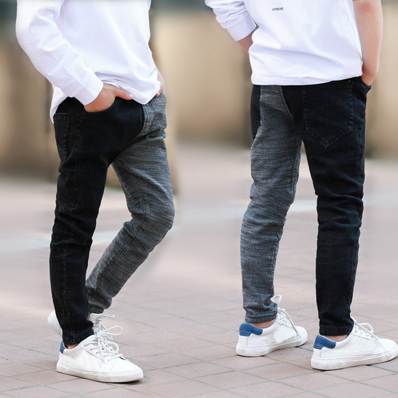 IENENS 4-13 Years Trend Boys Clothes Slim Straight Jeans Bottoms Kids Denim Clothing Long Pants Kids Baby Boy Casual Trousers