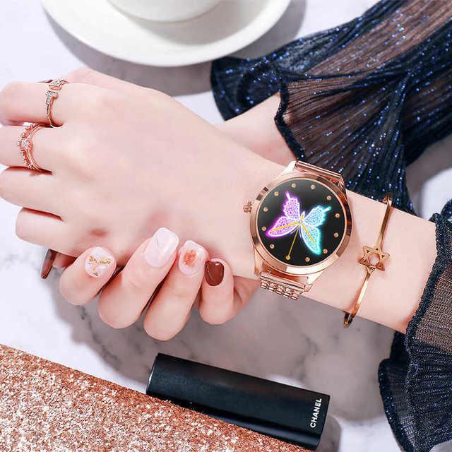 Smart Watch Women LEMFO LW07 Diamond Strap DIY Watch Face Full Stainless Steel Smart Watch for Women IP68 Waterproof Watch Women 1