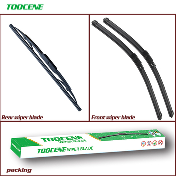 Front And Rear Wiper Blades For Seat Altea 2004-2009 Rubber Windshield Windscreen wiper Auto Car Styling Accessories 26+26+13 sliverysea rear windscreen wiper and arm for honda airwave 2009 onwards 14 5 door wagon high quality iso9000 natural rubber