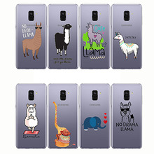 Cute Llama Alpaca Animals Cartoon Soft Silicon Phone Cases Cover For Samsung A6 A9s A8 A9Star A7 A9