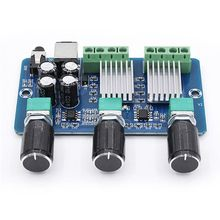DC 12V XH-A355 2.1 Channel Audio Amplifier Board Digital Power 15W+15W Stereo 30W Bass Voice Player Class D Amplify Module dc 12 24v 15 15w digital amplifier board module volume adjustable dual channel