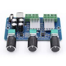 DC 12V XH A355 2.1 Channel Audio Amplifier Board Digital Power 15W+15W Stereo 30W Bass Voice Player Class D Amplify Module