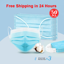 N95 in stock 50pcs anti Bacterial  Mask 50Pcs mouth mask PM2.5 Disposable Elastic Mouth Soft Breathable Face Mask N95 KN95